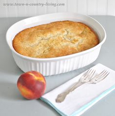 Simple Peach Cobbler Recipe - Town and Country Living