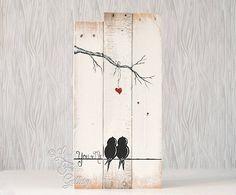 Tú y yo signo signo reclamado madera arte 5 por LindaFehlenGallery