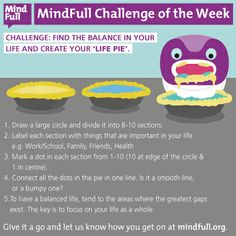 This week's MindFull Challenge: Find the balance in your life with a Life Pie.