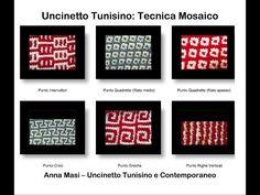 Tecnica Mosaico - Uncinetto Tunisino - YouTube