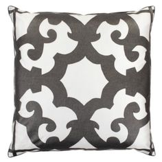 "Bukhara Pillow 24"" - Charcoal from Z Gallerie"