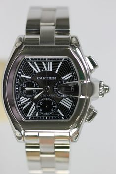 MEN'S CARTIER ROADSTER XL 50MM CHRONOGRAPH WATCH WITH BLACK DIAL - CBA Luxury Gifts