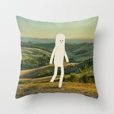 walking in tuscany Throw Pillow by Marco Puccini - $20.00