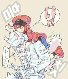 Hakkekkyuu and Sekkekkyuu Real Anime, Anime Love, Anime Nerd, Manga Anime, Blood Anime, Anime City, Loli Kawaii, White Blood Cells, Happy Tree Friends