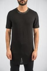 Lost & Found - Black Contrast Collar T-Shirt