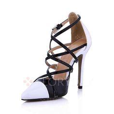 Chaussures - $64.85 - Femmes Escarpins Bout fermé Talons Talon aiguille Cuir verni Chaussures (1625133980)