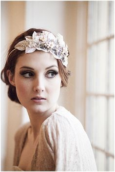 Millesime Vintage Milliners Velvet Leaf Headdress-4  http://www.wantthatwedding.co.uk/2012/06/18/victoria-mary-vintage-millesime-collection/
