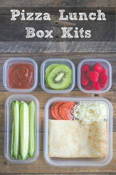 Pizza Lunch Kits you can make at home yourself!