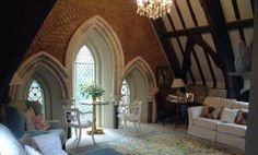 Those gorgeous windows.... A church conversion done SUPERBLY well!!