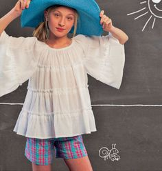 Girl Tops Pattern Girl Shorts Pattern Loose Fit Tops by blue510, $4.00