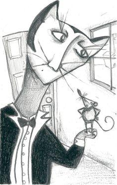 """""""El gato y el ratón hacen vida en común"""" Hermanos Grimm. (1/3) 2013"""