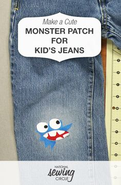Make a Cute Monster Jeans Patch for a Kid | NSC  #LetsSew