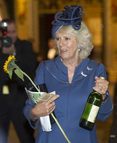Duchess Camilla attended the British Food Fortnight's harvest festival at Westminster Abbey 16 Oct 2013