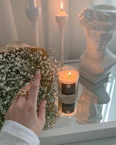 My New Room, My Room, Aesthetic Room Decor, White Aesthetic, Decoration, Aesthetic Pictures, Room Inspiration, Candle Jars, Sweet Home