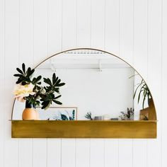 half circle mirror