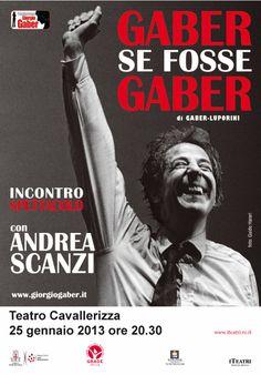 Gaber se fosse Gaber @ Teatro Cavallerizza _ Reggio Emilia 25/01/2013
