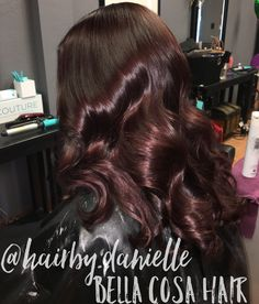 Beautiful deep violet using L'Oréal Professionnel Demi permanent dialight haircolor for a brilliant shine! Call/text 419-559-7147 to see Danielle at Bella Cosa!