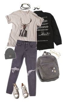 """I'm Pretty Done"" by irondeficient ❤ liked on Polyvore featuring StyleNanda, Converse and Acne Studios"