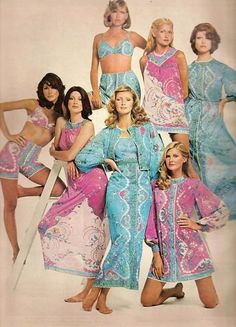 Vintage Lingerie Ad Emilio Pucci Formfit Rogers 1968. Reminds me of my 1960s Pucci bathrobe that has been a staple in my life for a decade now.