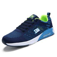 cc9ffeb550406 Men Sport Shoes 2017 New Arrival Summer Men Sneakers Running Black Blue  Sneakers Women Luxury