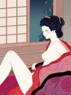 Sai Tamiya #イラストレーション #イラストレーター #イラスト #illustrator #illustration #挿絵 #挿絵画家 #挿画 #装幀 #田宮彩 #SaiTamiya #girl #woman #女性 #官能 #小説 #novel #nude #裸 #Japan #Japanese #日本 #着物 #kimono #美人画