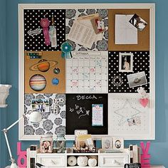 Pottery barn $300, DIY $30...I can do this!  (sheet metal, dry erase board, and cork board)