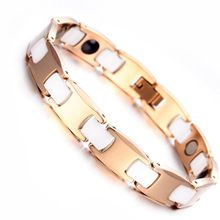 Mens Ladies Tungsten Bracelet, Rose Gold & White Magnetic Health Care Jewelry KB1528     Tag a friend who would love this!     FREE Shipping Worldwide     Get it here ---> http://oneclickmarket.co.uk/products/mens-ladies-tungsten-bracelet-rose-gold-white-magnetic-health-care-jewelry-kb1528/