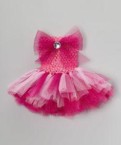 Love this Fuchsia & Pink Rhinestone Tutu Dress - Infant on #zulily! #zulilyfinds