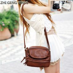 ZHI GENG BIRDS Fashion Women Bag Tassel Leather Bags Bolsa For Lady Small Handbag Clutch Shoulder Crossbody Female Messenger Bag #Affiliate
