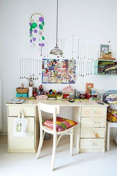 Workspace by jasna.janekovic, via Flickr    I love everything about this apartment