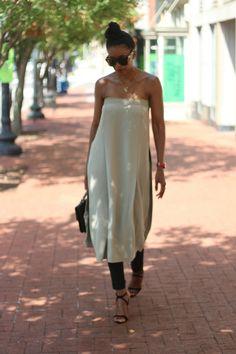 #diy strapless tunic #beautejadore