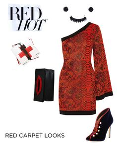 """Red Hot Chili Peppers"" by scope-stilettos ❤ liked on Polyvore featuring Balmain, Gianvito Rossi, Sonia Rykiel, Simone Rocha and Assouline Publishing"
