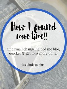 I needed more time to blog. I found it, do you want more time?