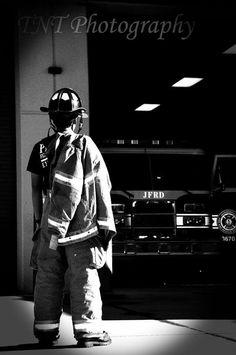 Senior photo firefighter
