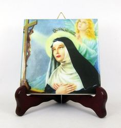 Are you searching for a perfect devotional gift? St Rita of Cascia icon on ceramic tile - made in Italy - now available on Etsy by TerryTiles2014