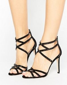 Shop Faith Leigh Embellished Strappy Heeled Sandals at ASOS.