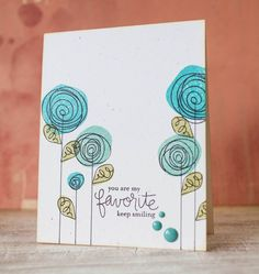 Colour Me…!: CMCC – Colour Me… Striking! Flower Stamp, Flower Cards, Tarjetas Diy, Paint Cards, Watercolor And Ink, Creative Cards, Diy Cards, Homemade Cards, Hand Lettering