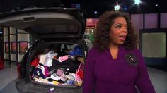 When one Oprah Show audience member asked Oprah and Peter Walsh about how she can keep her SUV clutter-free, they surprised her by doing the dirty work themselves: