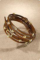 Minimalist Wrap Bracelet - Slender Leather Wrap Bracelet,Save Up to on Sale items at Soft Surroundings. Gems Jewelry, I Love Jewelry, Jewelry Bracelets, Jewelry Accessories, Jewelry Design, Jewelry Box, Jewelery, Tips Belleza, Leather Jewelry