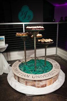 TCU Lily Pad Fountain Dessert Display