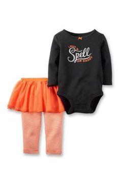Carters  2-Piece Halloween Bodysuit and Tutu Pants Set
