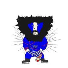 Choeverine playoffs by @kimbbap - David Choe Fan Art @bobbytrivia @davidchoe #wolverine #davidchoe #mapleleafs #toronto #portrait