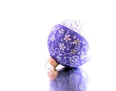 Ornament Purple with White leaves and Flowers by PearlesPainting, $65.00