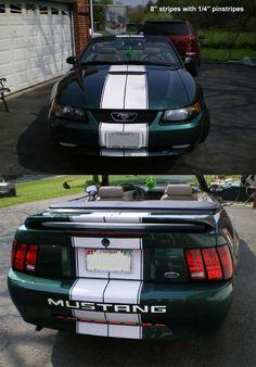 94-04 Ford Mustang Dual Racing Rally Stripes Vinyl Decal Sticker GT 5.0 Cobra