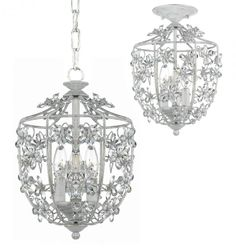 Legend Lighting Inc. in Austin, Texas, United States,  2390R, Pendants, Abbie Collection, Antique White