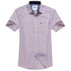 Lacoste 1 to 1 quality striped shirt, short sleeve plaid casual shirt for men, copy from original style