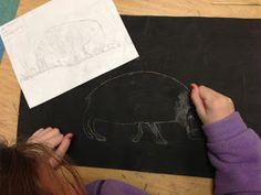 Apex Elementary Art: scratchboards