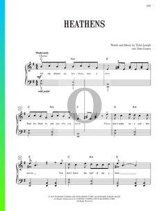 Heathens (Twenty One Pilots) - Piano Sheet Music  #piano #pianomusic #pianosheetmusic  #sheetmusic #klavier #klaviernoten #oktav  #oktavpiano #пианино #partitura #partitur #partituras #partition #partitions #clavier #keyboard #noten Heathens Twenty One Pilots, Easy Piano, Pop Songs, Piano Sheet Music, Keyboard, The Twenties, Sheet Music, Piano Music