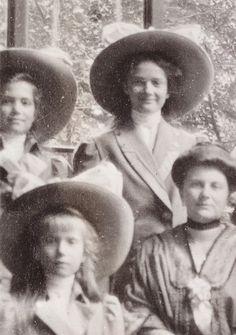"The Grand Duchesses Marie, Anastasia and Tatiana Nikolaevna Romanova of Russia with Sonya Orbeliani. ""AL"""