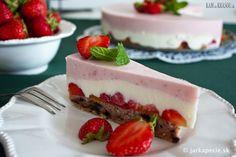 recept na Jahodový cheesecake (bez múky)